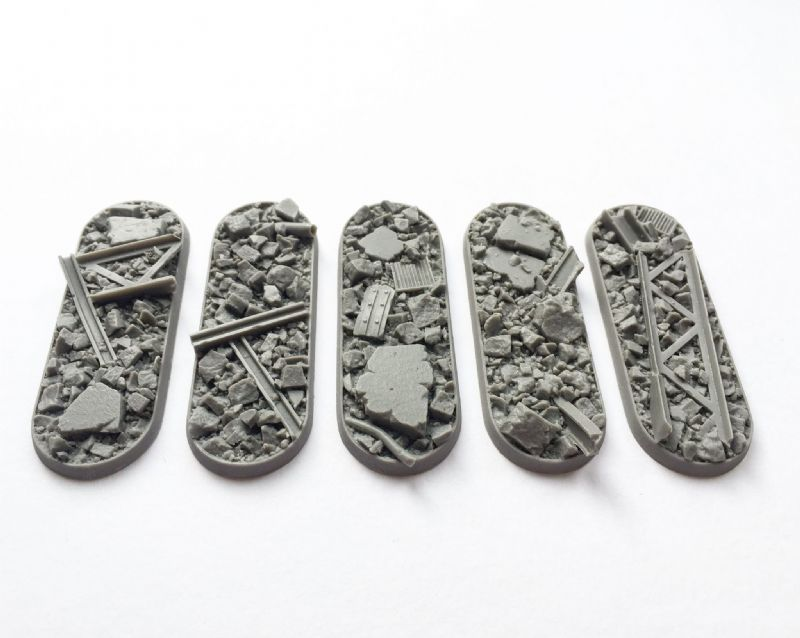 25x70mm Urban Rubble bases (5)